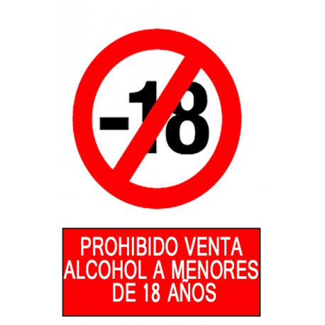 Prohibida la venta de alcohol a menores de 18 años