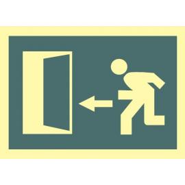 Evacuación hacia la izquierda