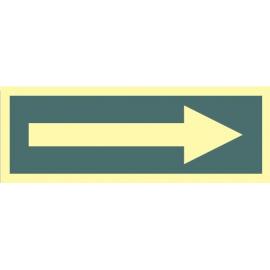 Flecha fotoluminiscente