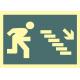 Señal salida escalera abajo flecha derecha 452