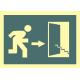 Señal salida escaleras abajo derecha 448