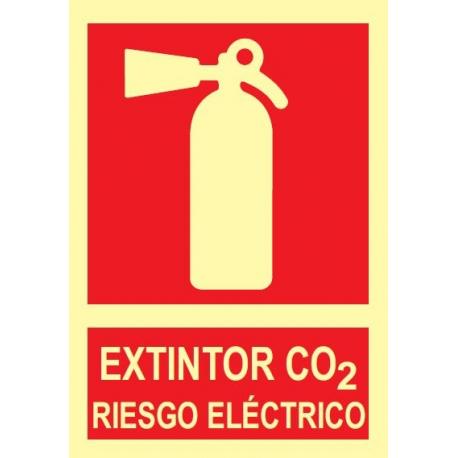 Extintor CO2 riesgo eléctrico