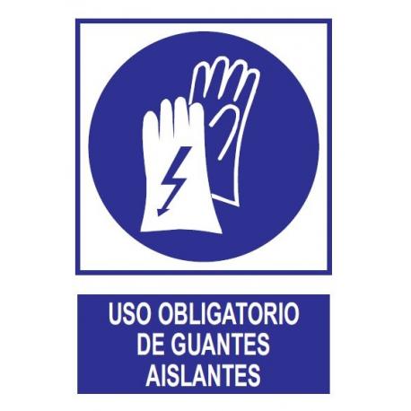 Uso obligatorio de guantes aislantes