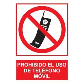 Prohibido el uso de teléfono móvil