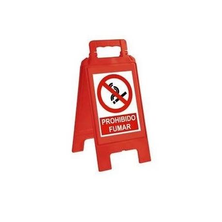 Caballete de señalización prohibición