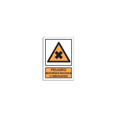 Peligro materias nocivas o irritantes