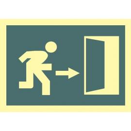 Evacuación hacia la derecha