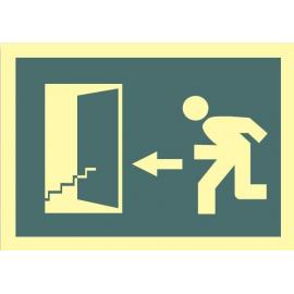 Salida escaleras abajo izquierda 447