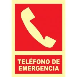 Señal teléfono de emergencia