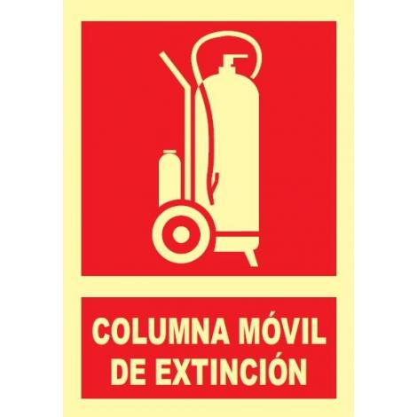 Columna móvil de extinción