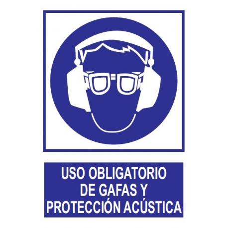 Uso obligatorio de gafas y protección acústica