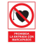 Prohibida la entrada con marcapasos