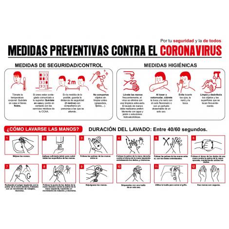 Cartel prevención COVID19