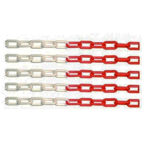 Cadena delimitadora roja/blanca