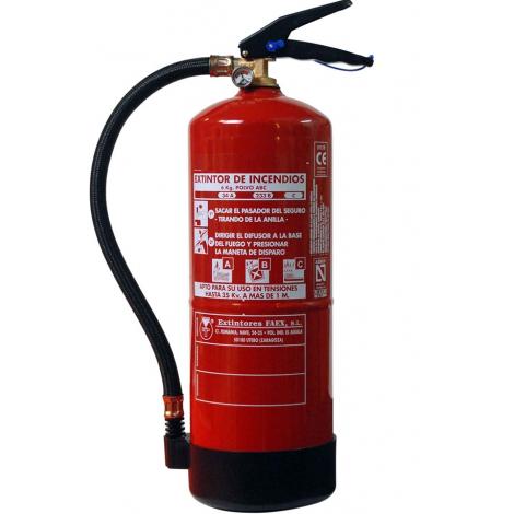 Extintor de polvo ABC